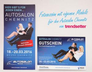 Fotosession mit eigenen Models für Chemnitzer Autosalon