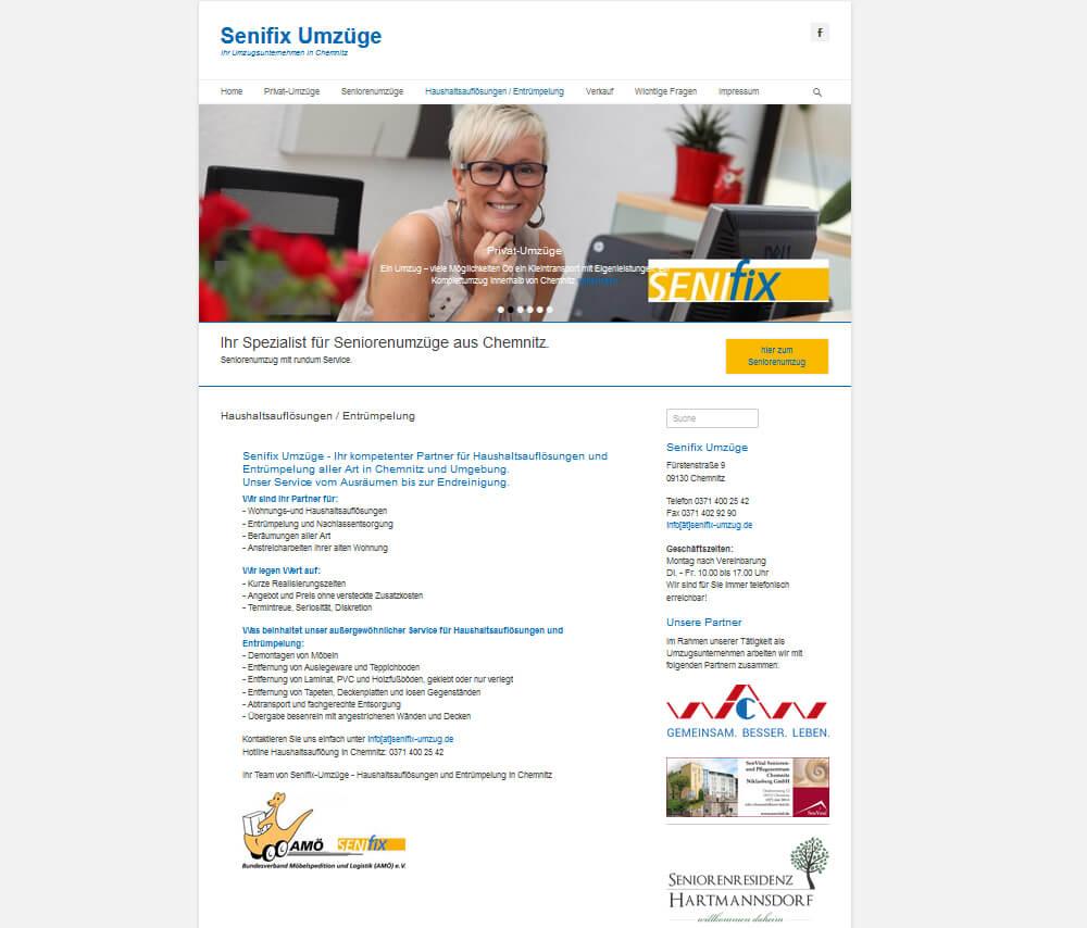 neue Internetseite für Senifix-umzug von trendsetter.media