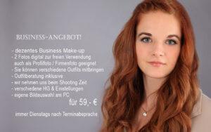 Bewerbungsfotoaktion inklusive Business-Make-up vom trendsetter Fotostudio Chemnitz