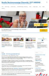 Website für Umzugsunternehmen Senifix Chemnitz