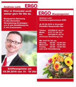 Flyer der ERGO Hauptagentur Andreas Lenk aus Einsiedel bei Chemnitz von trendsetter media Chemnitz Sachsen