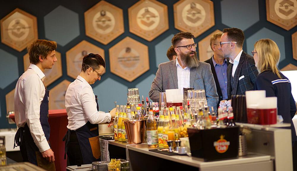 Das Catering und die Bars beim BVMW Neujahresempfang sind jedes Jahr exklusiv.